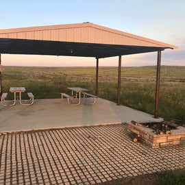 Shaded pavilion for community use