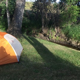 Our tent site by The creek.