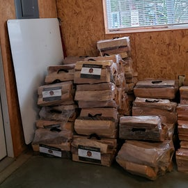 Firewood prices are comparable to outside the park AND it's kiln dried, so you know it will burn