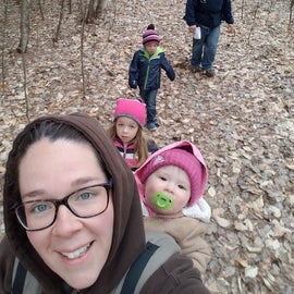 Hiking the trails around the campground