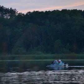 Rental paddle boat.