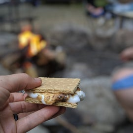 S'mores at the group campsite fire pit!