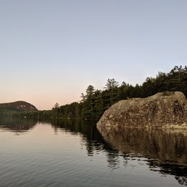 Paddling in Kettle Pond--lots of really cool large boulders you can climb on, hang out, read, or jump off of.