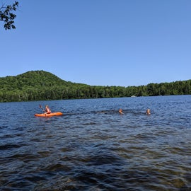 Morning paddle and swim on Kettle Pond