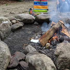The large group fire pit