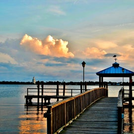 This is the fishing pier located at the campground.