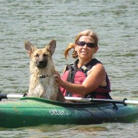 kayaking in Trinity Lake