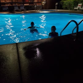 Kids getting some swimming in after dinner! (Sorry its sideways)
