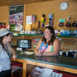 Interior of camp store