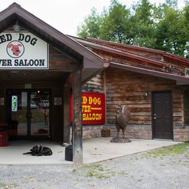 Saloon where you get two free beverages after rafting