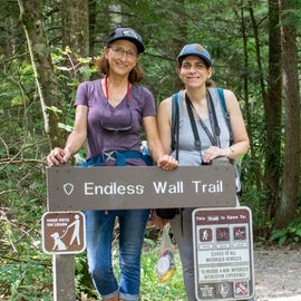 Endless Wall Trail wearing Banner and Oak Hats
