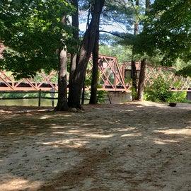 Sites closes to bridge and beach