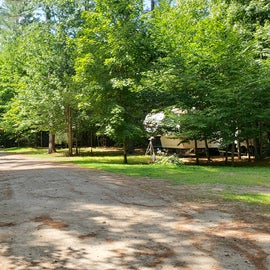 Looking down a campground road