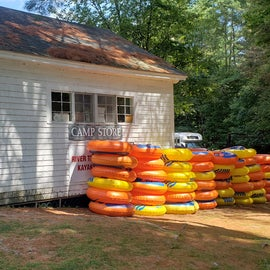 Camp store where you can rent tubes and kayaks or pick up a few necessary items.