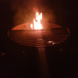 Individual firepit with grill