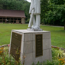 Chief Logan, a Cayuga warrior who killed some white settlers to get revenge for the slaughter of his family.