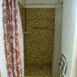 ADA-accessible showers.