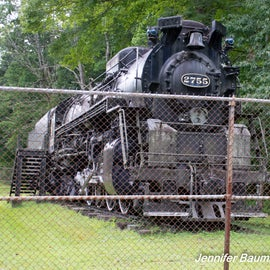 Old steam engine used to transport coal.