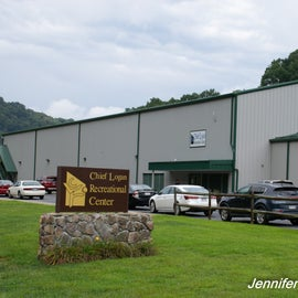 Large rec center free with lodge stay.  $10/day for campers