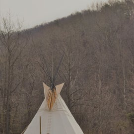 Tipi. Camping. Yes.