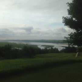 River view from a hilltop