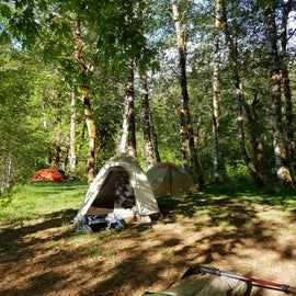 We camped at the end of the trail