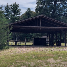 Communal covered picnic area