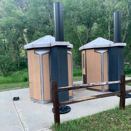 Pit Toilets at Toby Campground