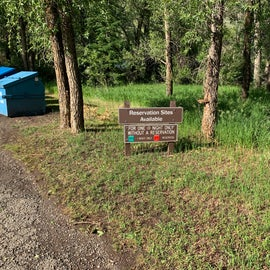 Day Use Area at Tolby Campground