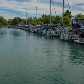 Just a few minutes drive, or a nice walk, you can get to the Elk Rapids marina on Grand Traverse Bay.