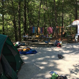 We made a little mess around the campsite but shows how much fun we were having