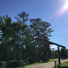 The entrance to the park.