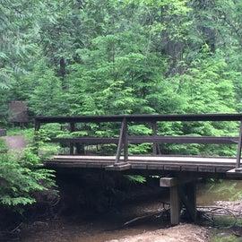 Bridge over a pretty little creek at campground