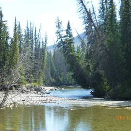 Another view of the river. If you don't fish, just hang out with a book and enjoy!