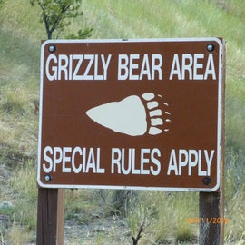 Boxes are provided to store food in but you must use common sense. Don't ever leave food out, carry bear spray when hiking (I always take it into tent with me at night, too), and keep a clean camp.