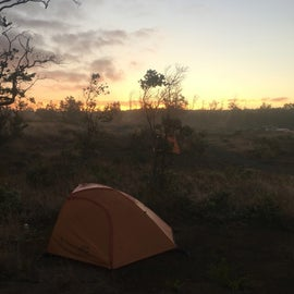 Sunset views at the campground