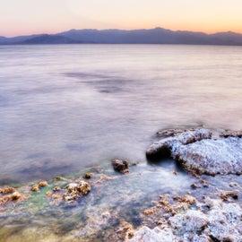 Sunset over the Salton Sea