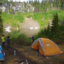 One of many places to pitch your tent.