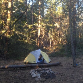 Our camp up the hill from the pad by about 50'