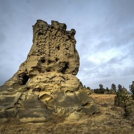 One of the largest rock formations you can walk out to.