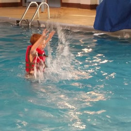 Cooling off in the indoor pool was great!