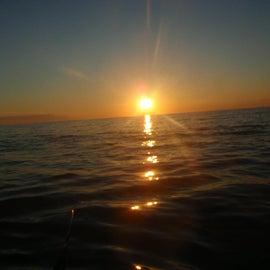 Sun set from Highland Beach