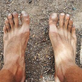 Desert makes for dirty feet