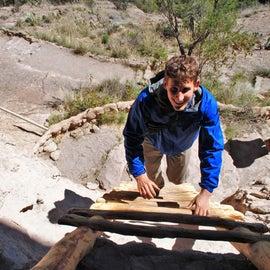 Fun ladders you can climb at the Gila Cliff Dwellings