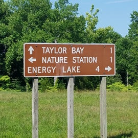 Taylor Bay is only about 1.5 miles from the Nature Station, a Family friendly educational adventure with many local species of animals and plants available for viewing (Admission required - no more than $5/adult).  Energy Lake is also near by, created from a dam, and boasts great fishing, kayaking, canoeing (no motorized boats allowed on Energy Lake).