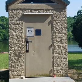 Vault or pit toilet