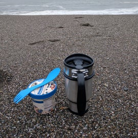 Breakfast by the ocean.