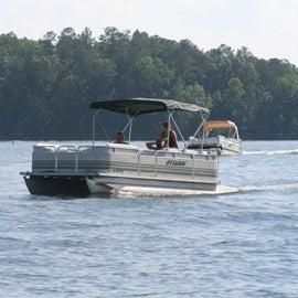 Boating fun on the lake
