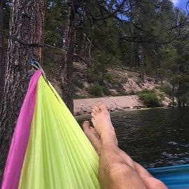 Hammock by the lake