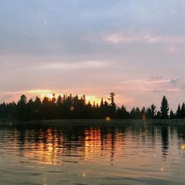 Sunset at Icehouse Reservoir.